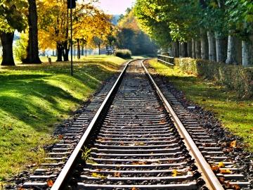 Vias de tren en Frankfurt
